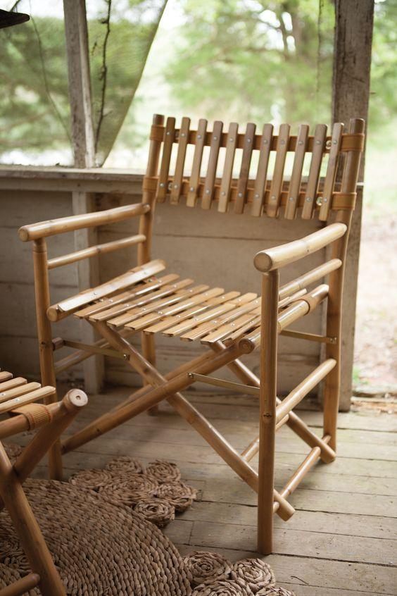 Мебель для веранды из бамбука