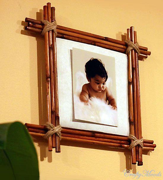 Бамбуковая рамка для фотографии