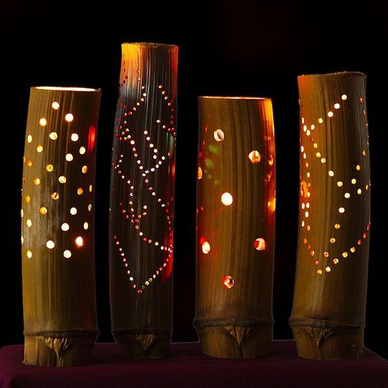Бамбуковые ночники