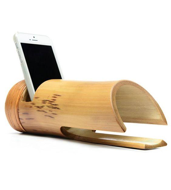 Бамбуковая подставка под телефон