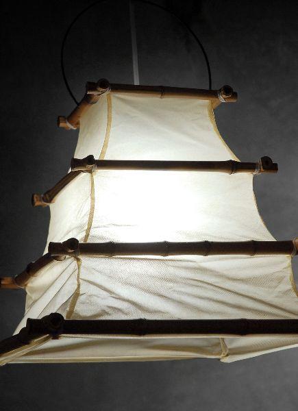 Фонарь из бамбука и хлопковой ткани