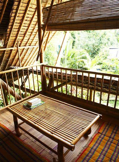 Бамбуковый дом в Таиланде