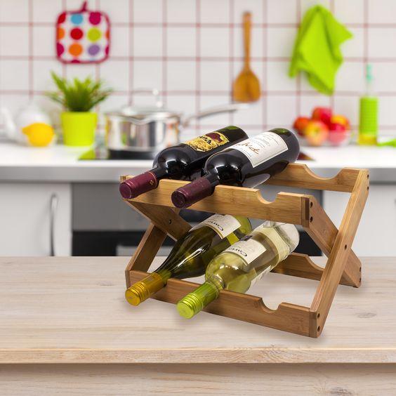 Бамбуковая подставка для вин