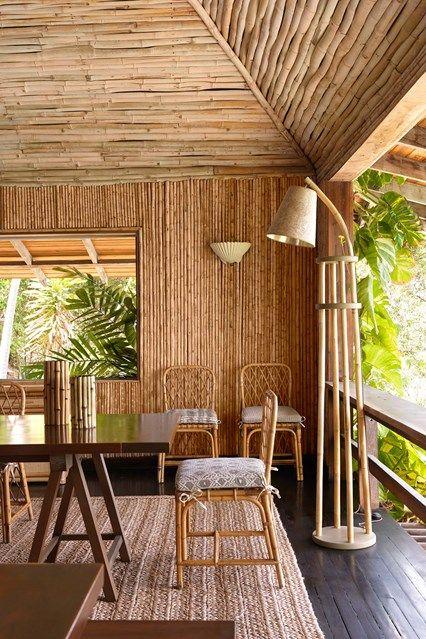 Интерьер из бамбука
