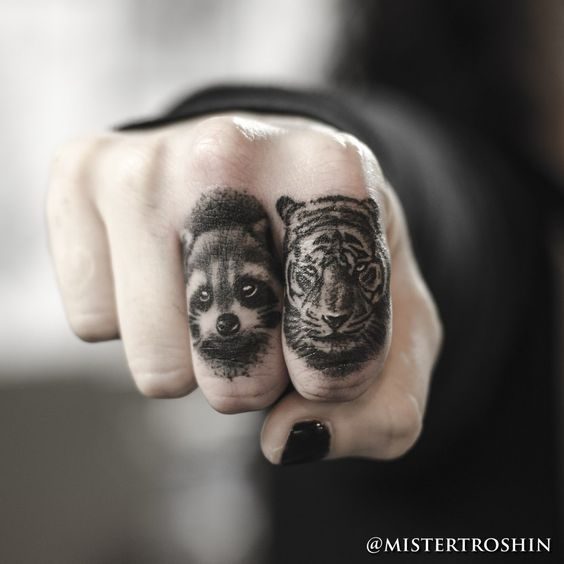 100 for Animal finger tattoos