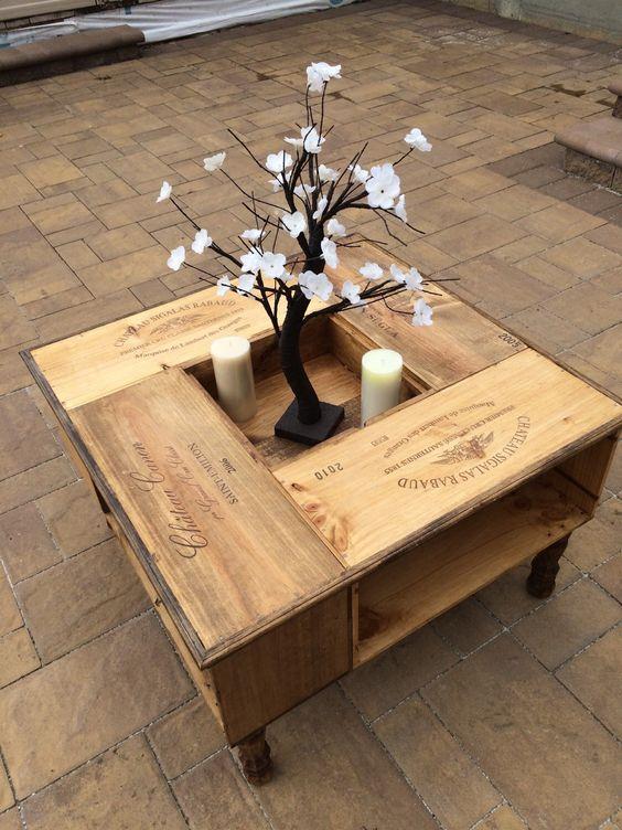 100 - Table basse caisse en bois ...