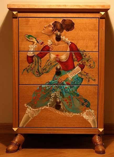 107-9 Декупаж мебели салфетками своими руками – способы, мастер-классы