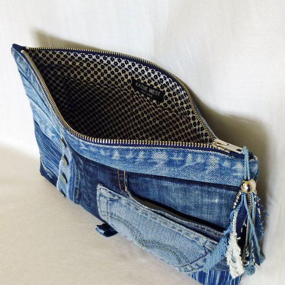 3bc018bed349 Поделки и новая одежда из старого джинса: 70 оригинальных идей