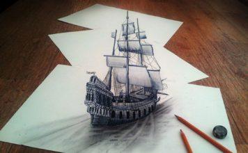 3D рисунки на бумаге карандашом на фото