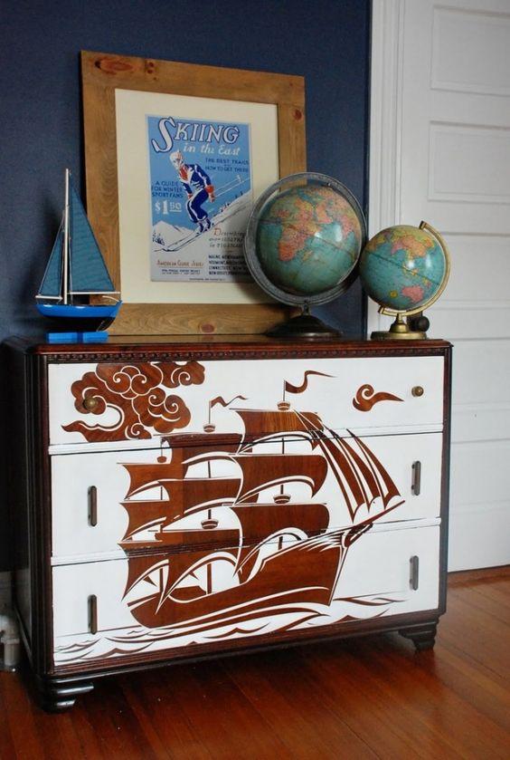 47-12 Декупаж мебели салфетками своими руками – способы, мастер-классы