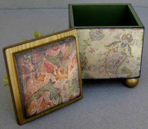 64-12 Декупаж мебели салфетками своими руками – способы, мастер-классы