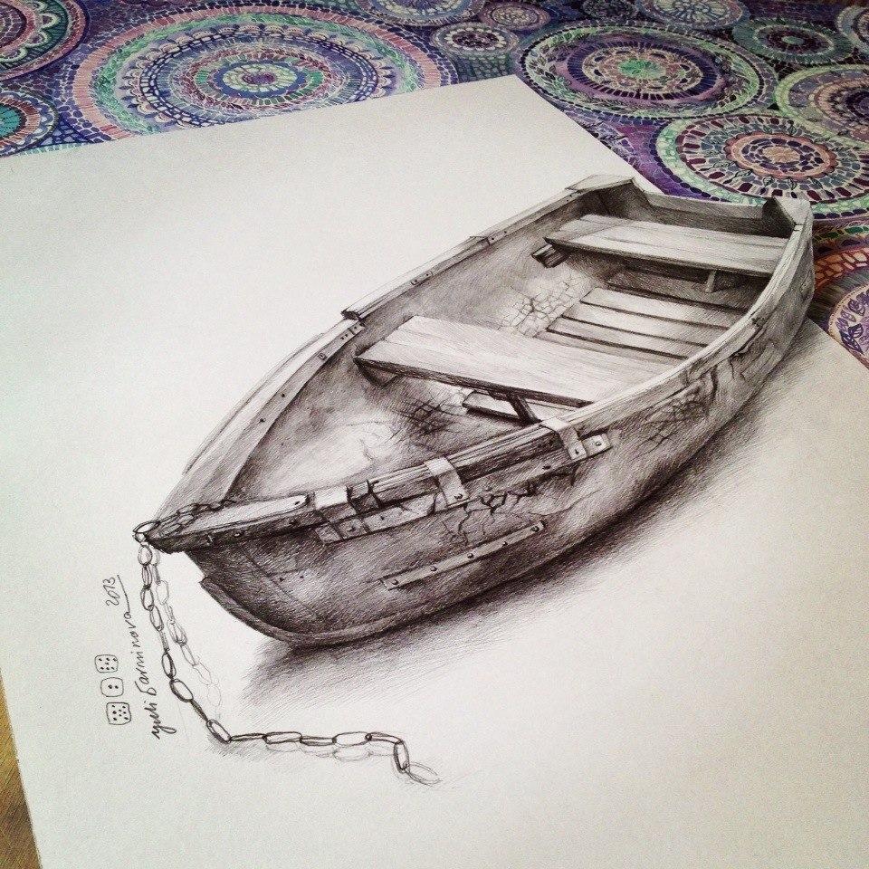 как начинающим рисовать 3d рисунки на бумаге карандашом