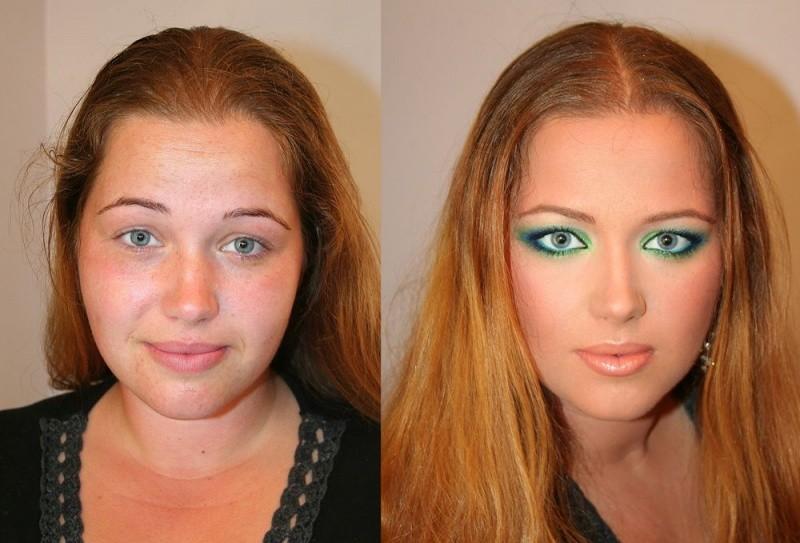 Женщины до и после нанесения макияжа thumbnail