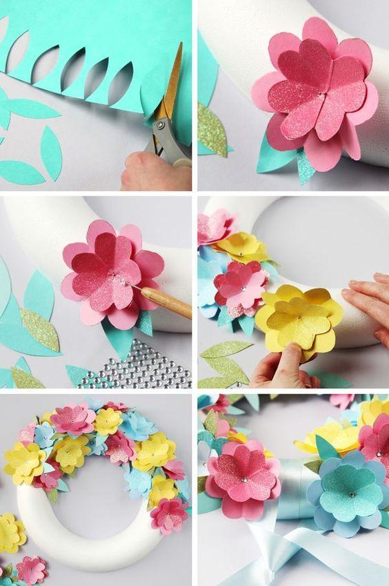 Ураза, как сделать маленькие цветочки для открытки