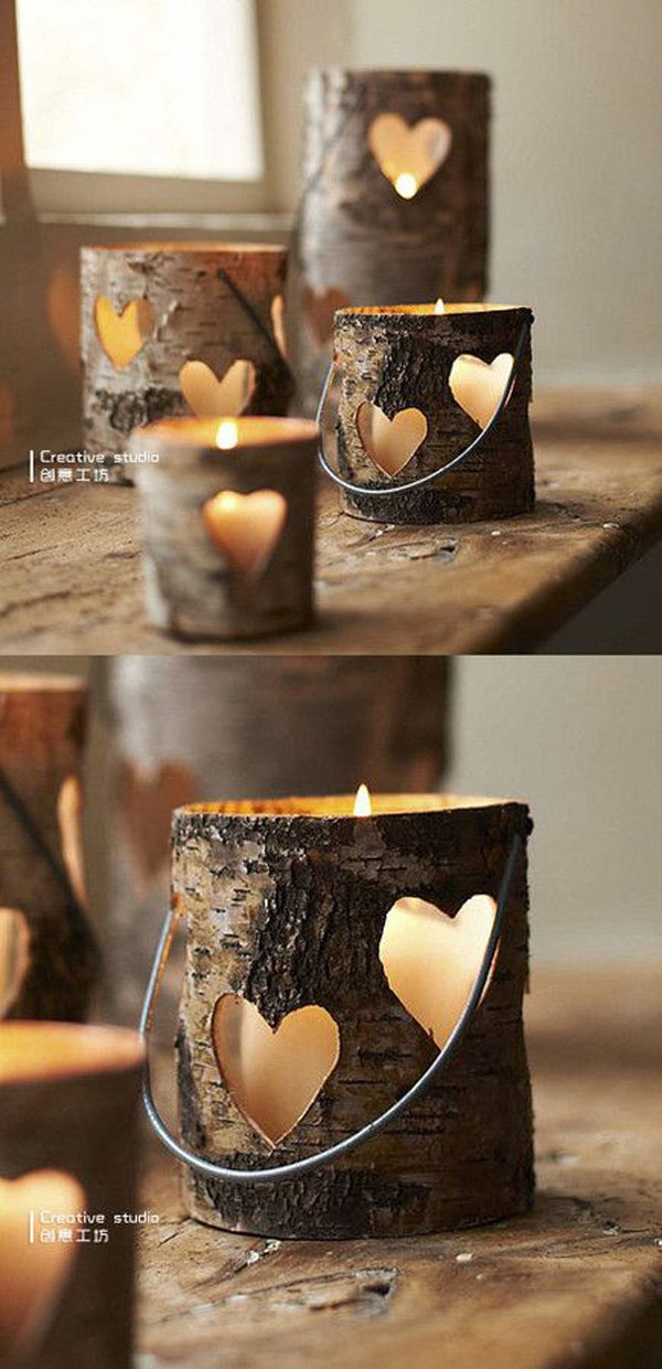 love-the-hollowed-out-pieces-of-log-for-candle-holders