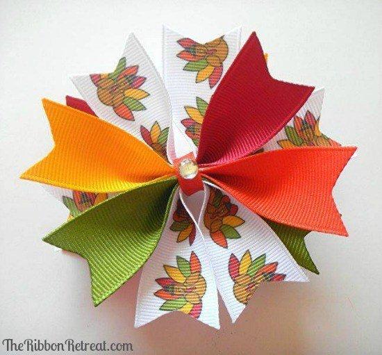 Бантик для цветов из ленты своими руками 9