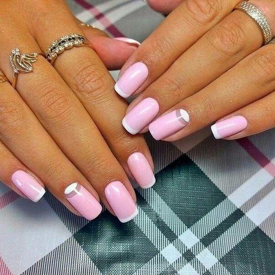 Дизайн френча для ногтей
