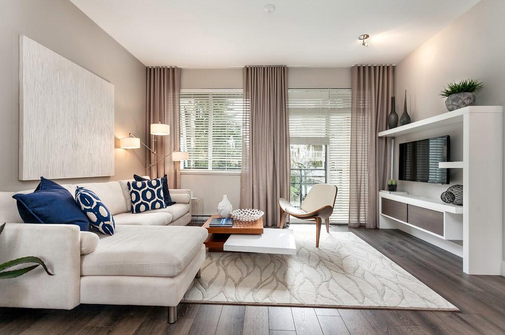 Интерьер и дизайн штор в гостиной Красивые и современные 75