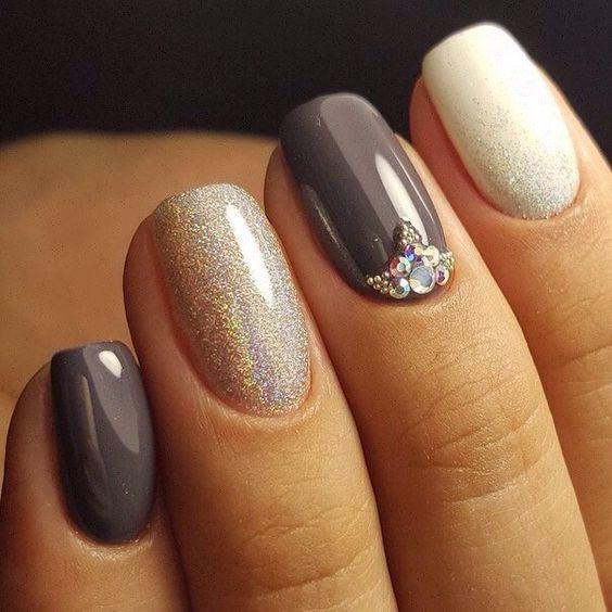 Дизайн короткие ногтей фото