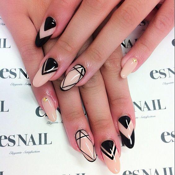 Маникюр на длинные ногти (39 фото идеи красивого дизайна 2018 на) 59