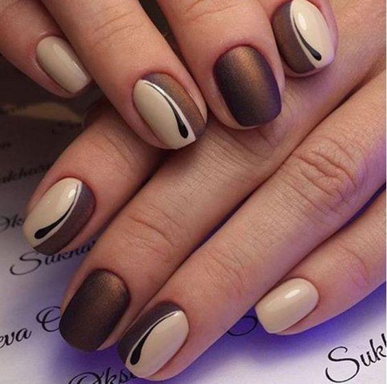 Фото ногтей дизайн осень