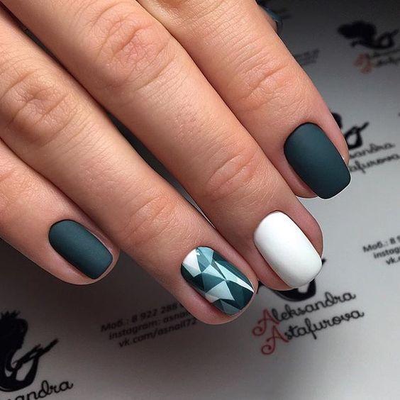 фото рисунки на короткие ногти гель лаком