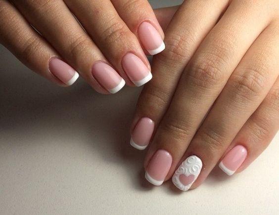 френч фото дизайна ногтей