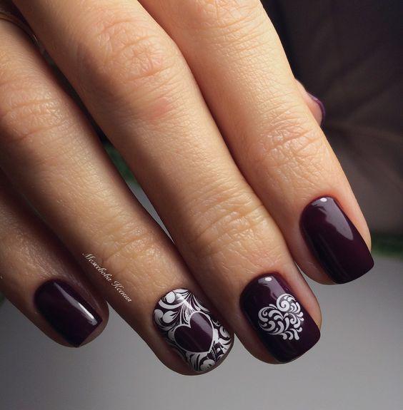Фото дизайна ногтей гель лаком на коротких ногтях 2017