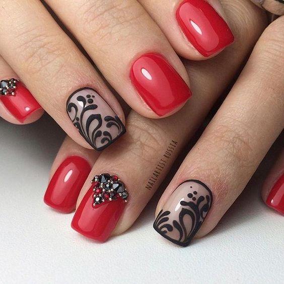 Ногти гель лак дизайн фото осень на короткие ногти