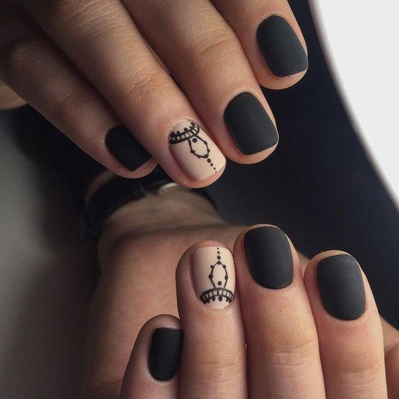 Френч рисунки на квадратных ногтях фото