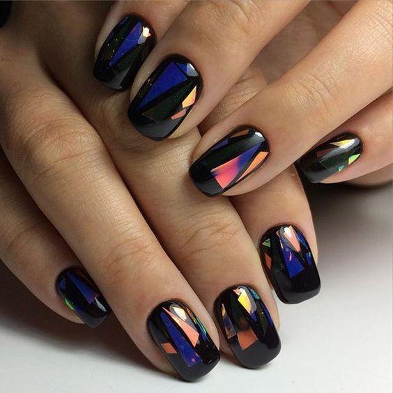 Дизайн ногтей с блестками 2017 фото новинки лето