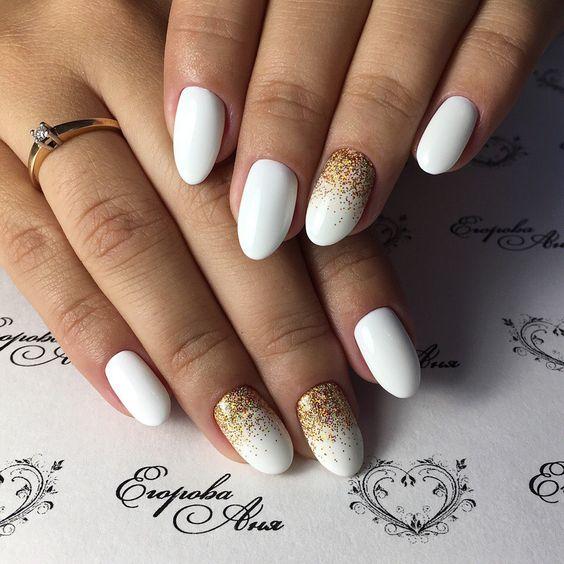 Белый френч-139 фото идей дизайна ногтей 6