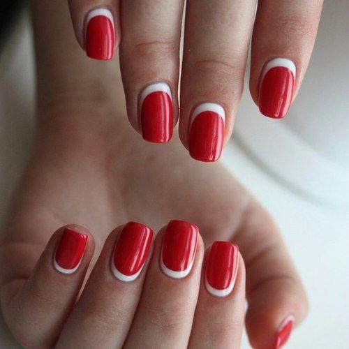 Маникюр фото красные ногти