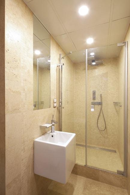 Однотонные ванные комнаты фото мебель в девичью комнату