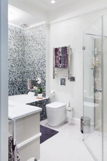 Плитка цветы ванной дизайн