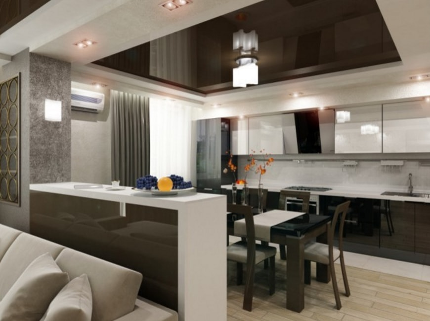 Дизайн кухни с гостиной современные идеи