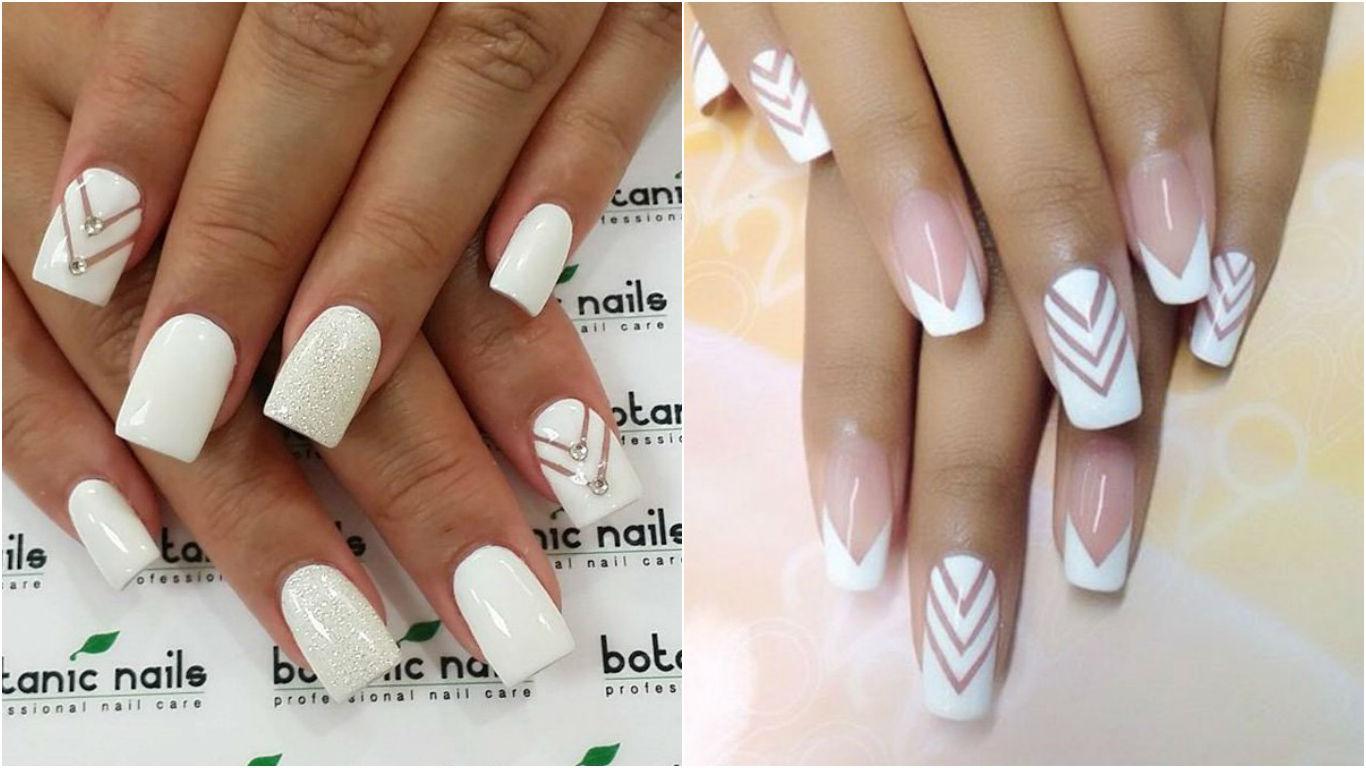 Красивый маникюр в белом цвете