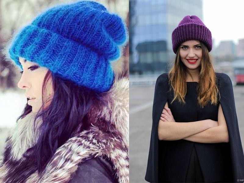 100 модных идей вязаные шапки 2017 года на фото