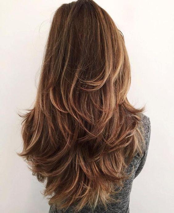 Стрижка на длинный волос каскад