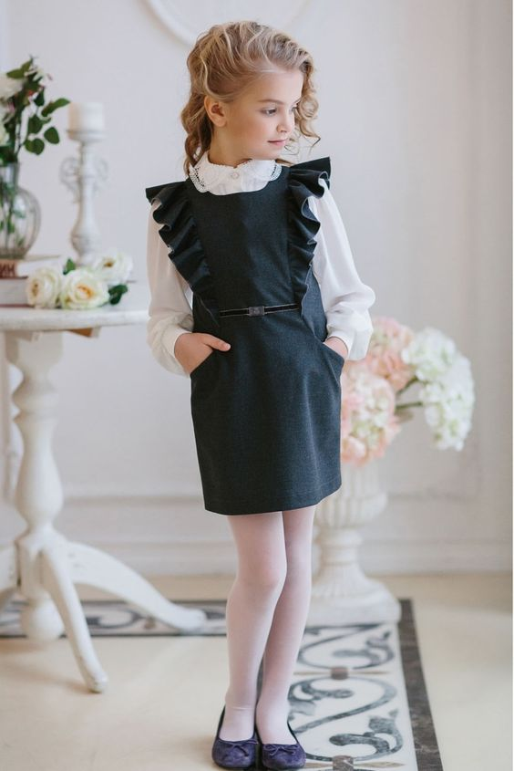 Модные школьные платья фото