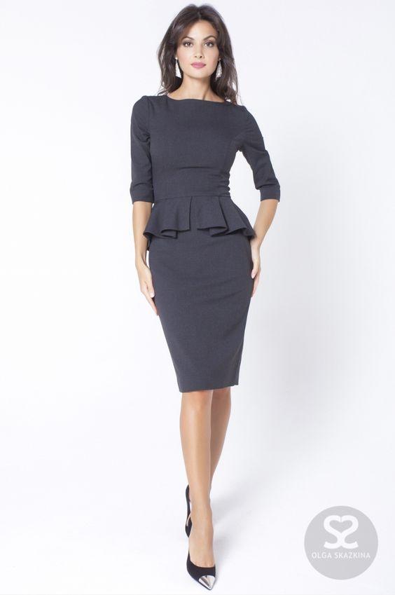 4c50e2af82a Баска довольно часто используется в дизайне платьев делового стиля. Такой  элемент позволяет подчеркнуть бедра и придать женственности.