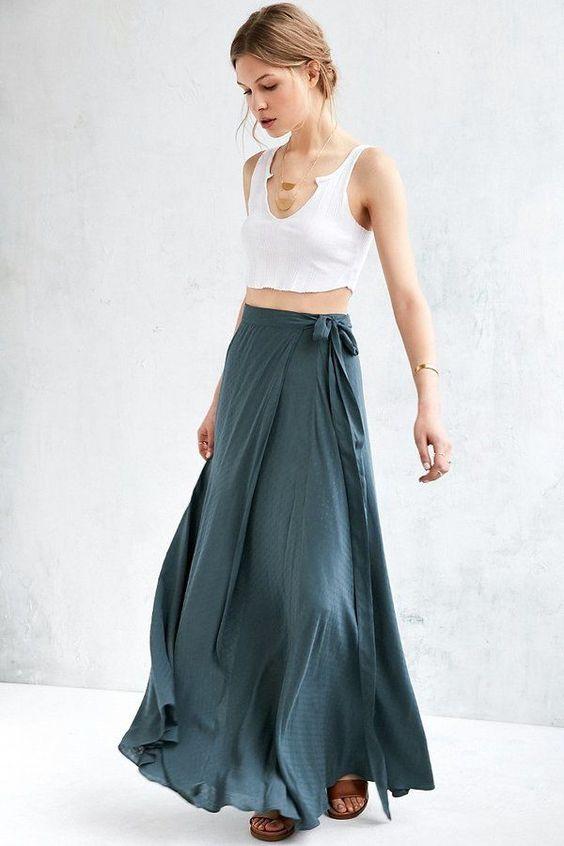 Длинные юбки лето 2017