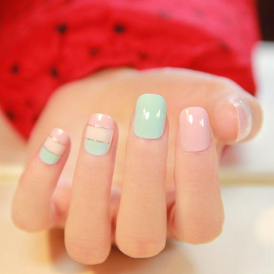 Пример маникюра на короткие ногти фото