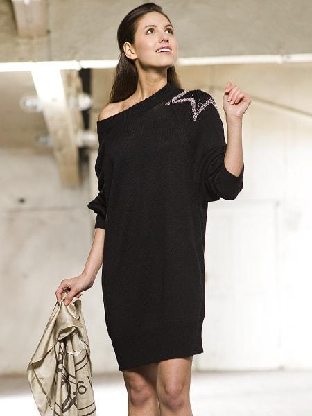 Черные свободные платья фото