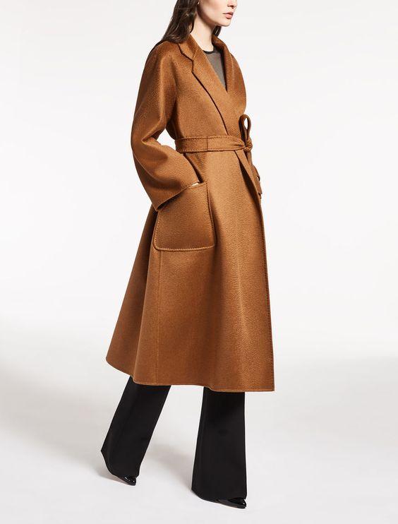 Элегантное пальто с поясом