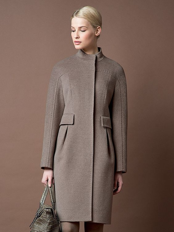 Классические приталеное пальто