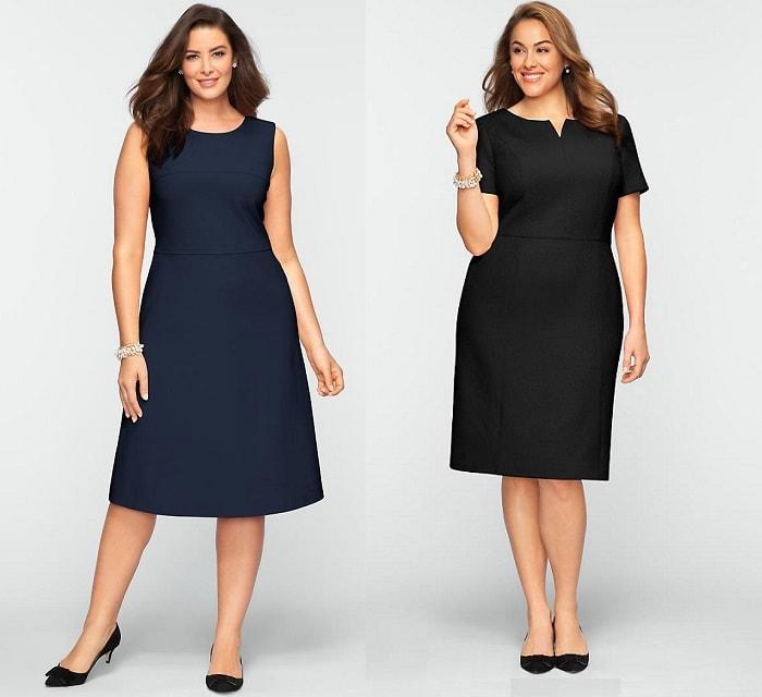 Деловые платья для полных фасоны