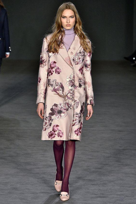 Модные пальто: цветочный принт