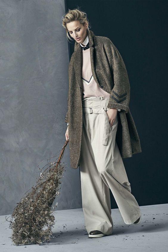 Брутальный стиль пальто