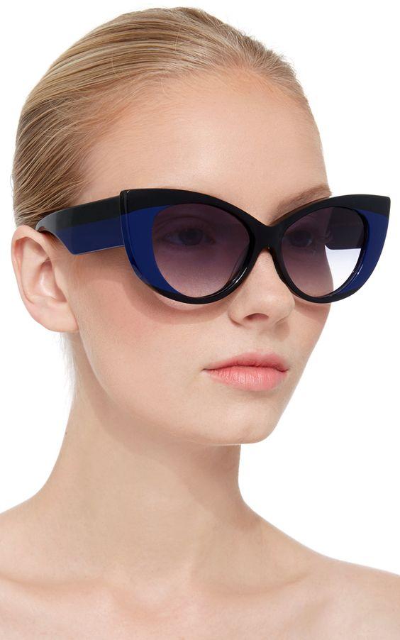 Очки с двухцветной оправой